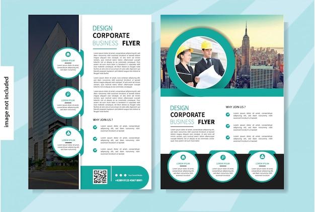 Plantilla de volante para folleto de diseño de portada o informe anual