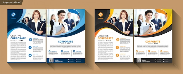 Plantilla de volante para folleto de portada corporativo