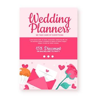 Plantilla de volante de invitación de boda