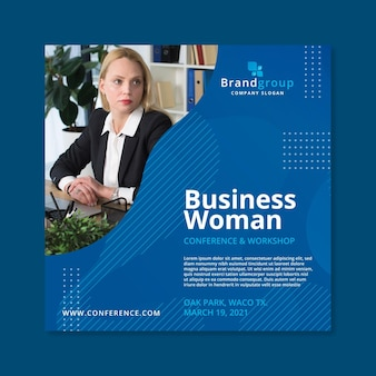 Plantilla de volante de mujer de negocios