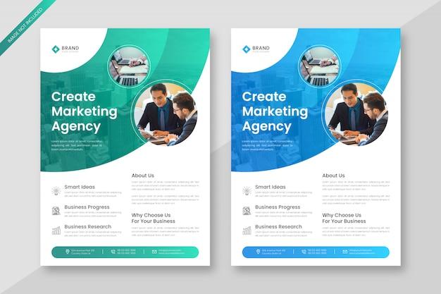Plantilla de volante de negocios de marketing digital creativo