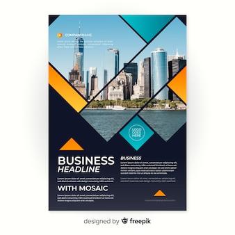 Plantilla de volante de negocios de mosaico