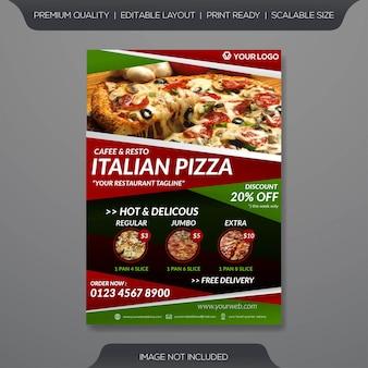 Plantilla de volante de pizza italiana