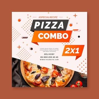Plantilla de volante de pizza
