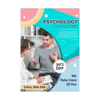 Plantilla de volante de psicología
