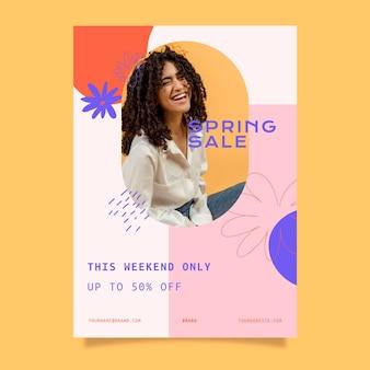 Plantilla de volante de rebajas de primavera
