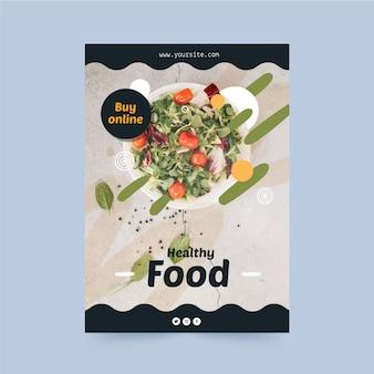 Plantilla de volante de restaurante de comida saludable