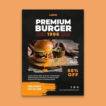 Plantilla de volante de restaurante de hamburguesas
