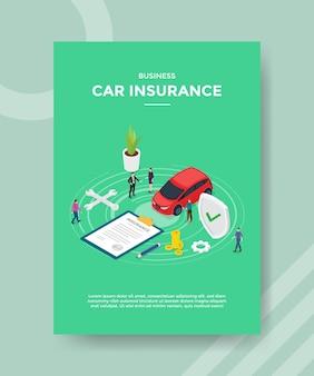 Plantilla de volante de seguro de automóvil comercial