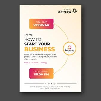 Plantilla de volante de seminario web de negocios en línea