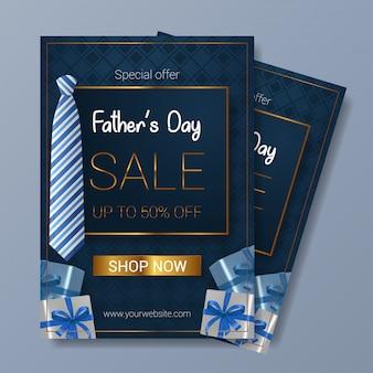 Plantilla de volante de venta del día del padre