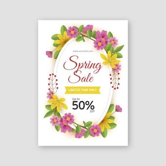 Plantilla de volante de venta de primavera realista