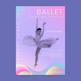 Plantilla de volante vertical de ballet bailando