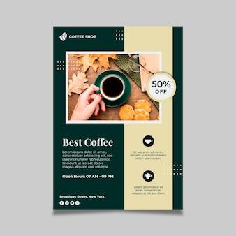 Plantilla de volante vertical de café