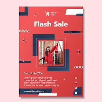 Plantilla de volante vertical de compras en línea