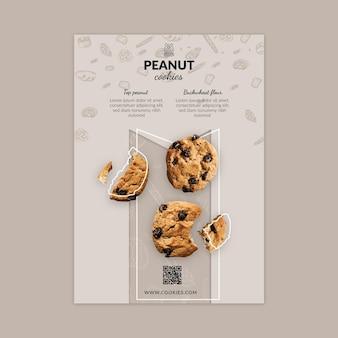 Plantilla de volante vertical de cookies