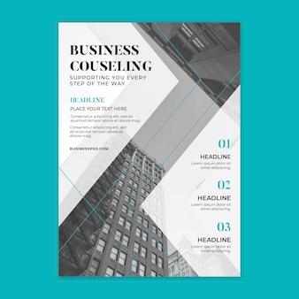 Plantilla de volante vertical de negocios generales