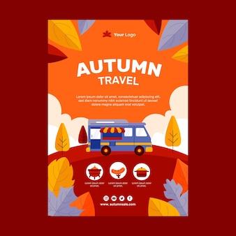 Plantilla de volante vertical de otoño plano