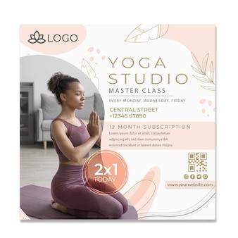 Plantilla de volante de yoga con foto