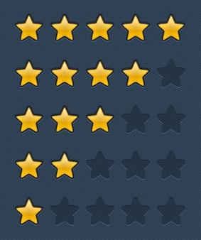 Plantilla de voto de estrellas doradas brillantes de vector