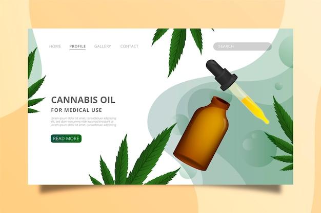 Plantilla web de aceite de cannabis
