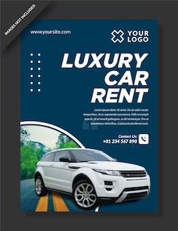 Plantilla web de banner de coche de lujo