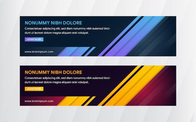 Plantilla de web de banner de diseño abstracto de vector.
