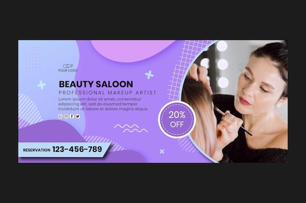 Plantilla web de banner de salón de belleza