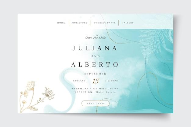 Plantilla web de boda mínima