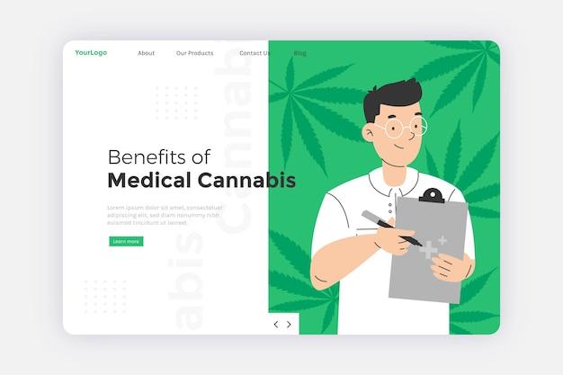 Plantilla web de cannabis medicinal