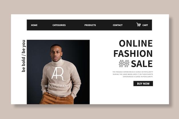 Plantilla web de compras online