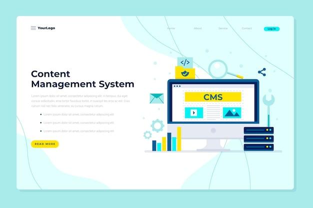 Plantilla web de concepto plano cms