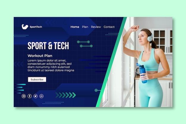 Plantilla web de deporte y tecnología