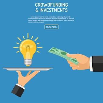 Plantilla web de dinero para idea