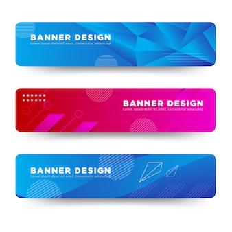 Plantilla de web de diseño de banner abstracto de vector colorido brillante