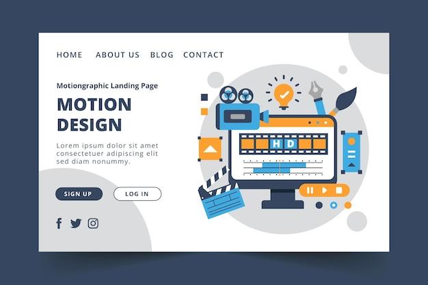 Plantilla web de diseño de gráficos en movimiento