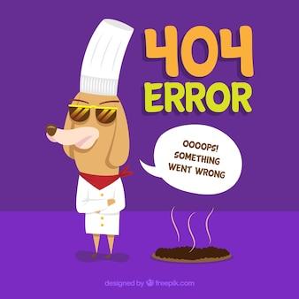 Plantilla web de error 404 con animales en estilo hecho a mano