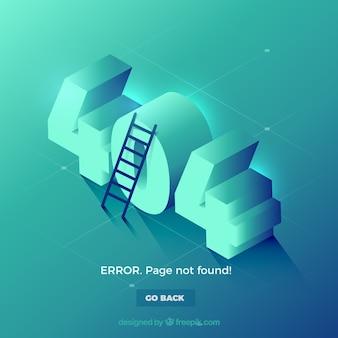 Plantilla de web de error 404 en estilo isométrico