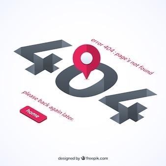 Plantilla web de error 404 en estilo plano