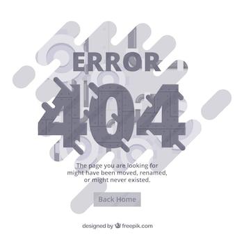 Plantilla de web error 404 en estilo plano