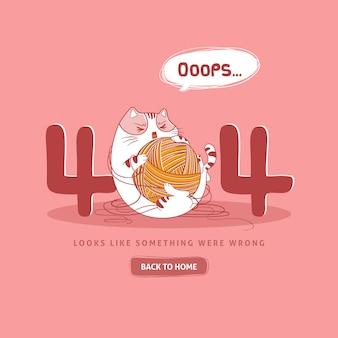 Plantilla web error 404 con gato enojado