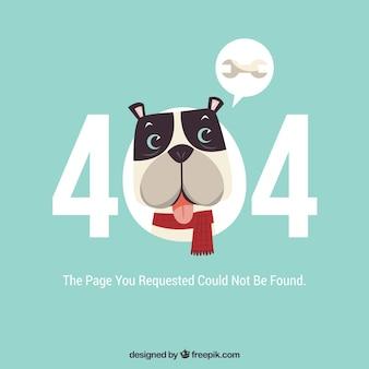 Plantilla web de error 404 con lindo perro