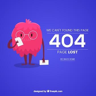 Plantilla de web de error 404 con monstruo divertido