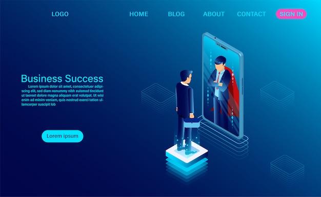 Plantilla web de éxito empresarial