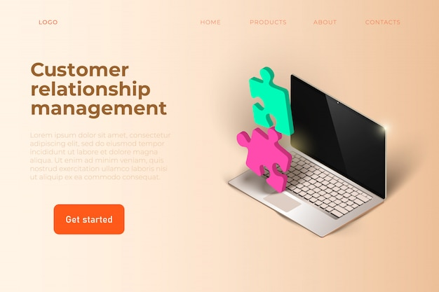 Plantilla web de gestión de relaciones con clientes