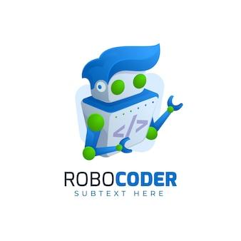 Plantilla web de logotipo de robocoder