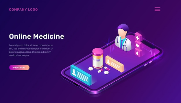 Plantilla web de medicina en línea, telemedicina