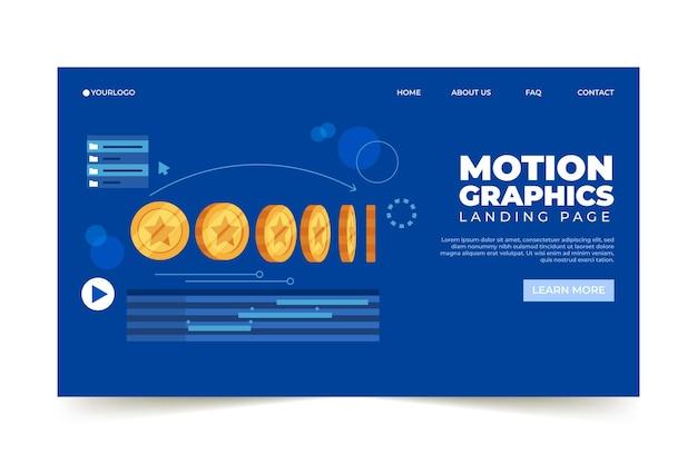 Plantilla web de motiongraphics orgánico