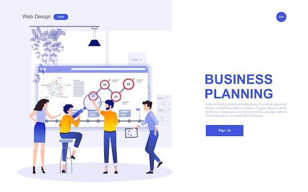 Plantilla web de negocios para marketing, análisis y trabajo en equipo.