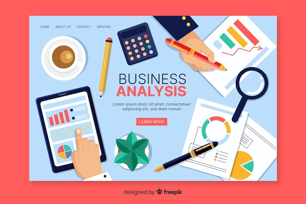 Plantilla web de página de destino empresarial
